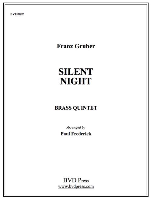 Silent Night for Brass Quintet (Gruber/arr. Frederick) PDF Download