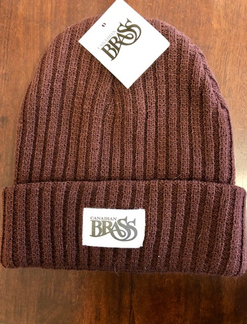 Knit Cable Beanie Cap - Maroon