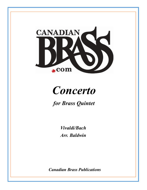 Concerto (Vivaldi/Bach) for Brass Quintet arr. Baldwin PDF Download