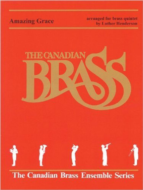 Amazing Grace for Brass Quintet (Trad./arr. Henderson) Blackbinder Format (Trumpet 2 in B part)