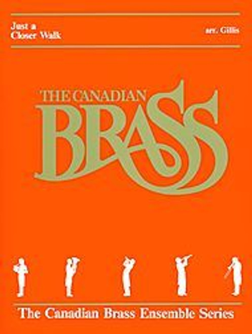 Just a Closer Walk with Thee for Brass Quintet (Trad./arr. Gillis) Blackbinder Format (Trumpet 1 in Bb part)