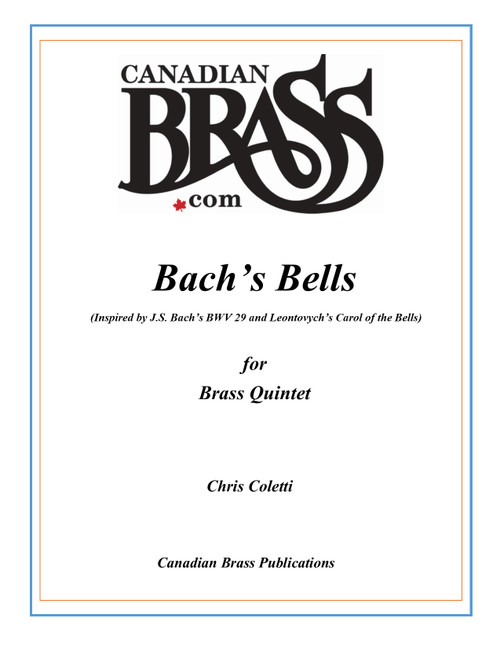 Bach's Bell Set of Parts for Brass Quintet (Chris Coletti) Blackbinder Format