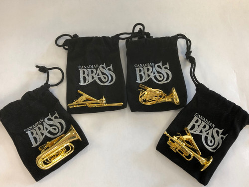 "Canadian Brass ""Instrument"" Tie Clips"