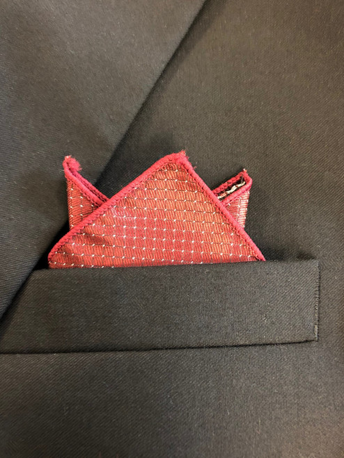 Canadian Brass Wine Colored Pocket Square