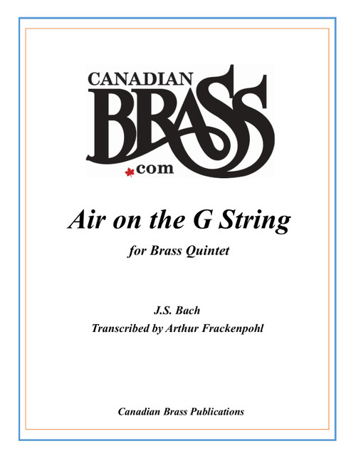 Air On the G String Brass Quintet (Bach/arr. Frackenpohl) PDF Download