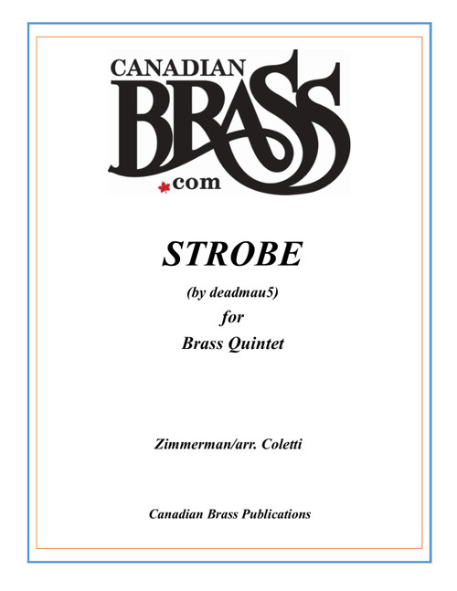 Strobe for Brass Quintet w/optional additional trumpet (Zimmerman/arr. Coletti)