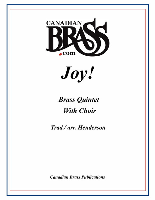 Joy! (gospel version of Joy to the World for Brass and Choir) by Henderson PDF Download