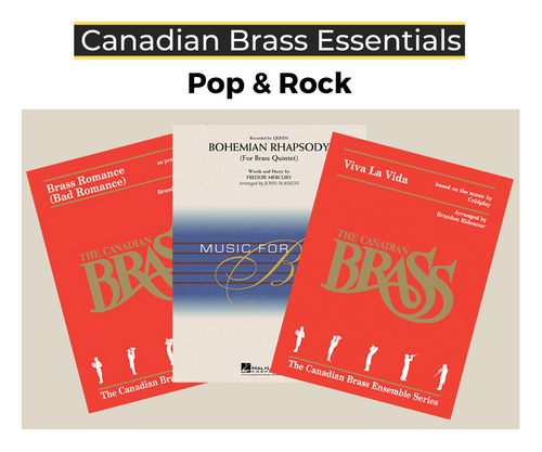 Essential Pop and Rock Brass Quintet Bundle (Brass Romance, Viva La Vida and Bohemian Rhapsody)