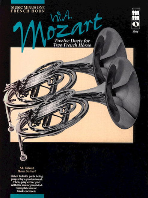Mozart - Twelve Duets for Two French Horns (Music Minus One)