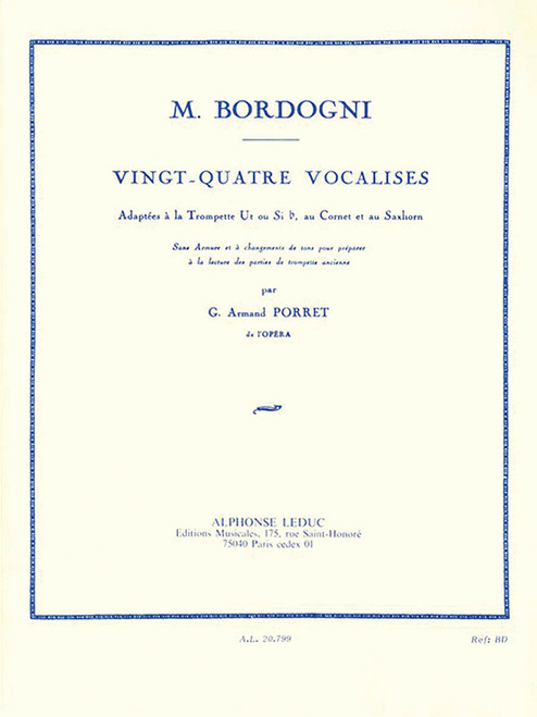 24 Vocalises - Adapted for Trumpet (Bordogni)