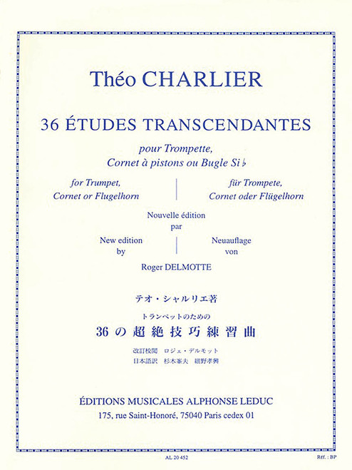 36 Etudes Transcendantes for Trumpet (Theo Charlier)
