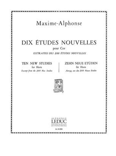 10 Etudes Nouvelles (Solo Horn) (Maxime-Alphonse)