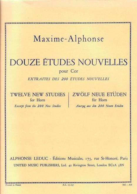 12 Etudes Nouvelles (Horn Solo) (Maxime-Alphonse)