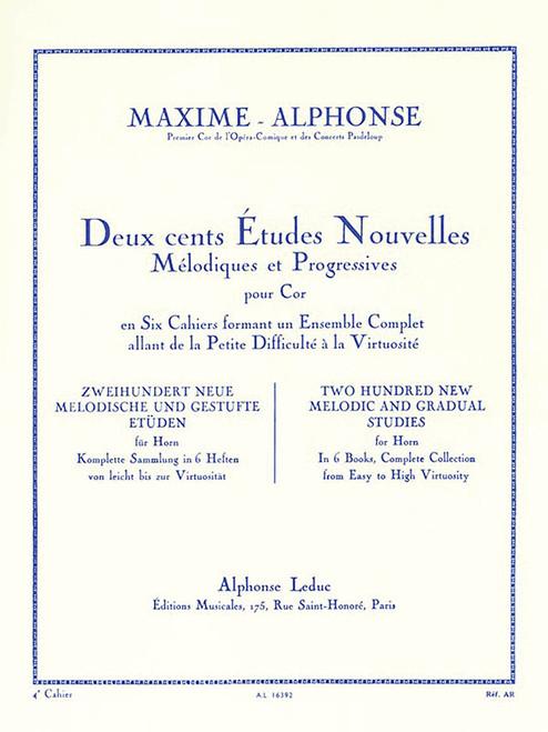 Deux cents Etudes Nouvelles (200 Etudes Nouvelles) Book 4 (Maxime-Alphonse)