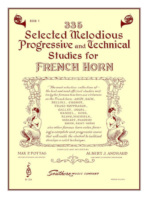 335 Selected Melodius Progressive & Technical Studies for French Horn Book 1