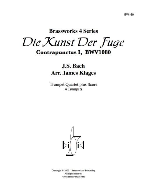 Die Kunst Der Fuge Contrapunctus 1, BWV 1080  for Trumpet Quartet (Bach/arr. Klages)