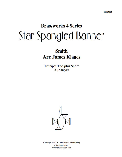 Star Spangled Banner for Trumpet Trio PDF Download (Smith/Klages)