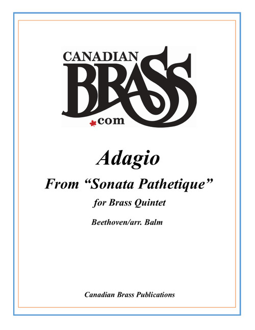 "Adagio from ""Sonata Pathetique"" for Brass Quintet PDF Download (Beethoven/arr. Balm)"