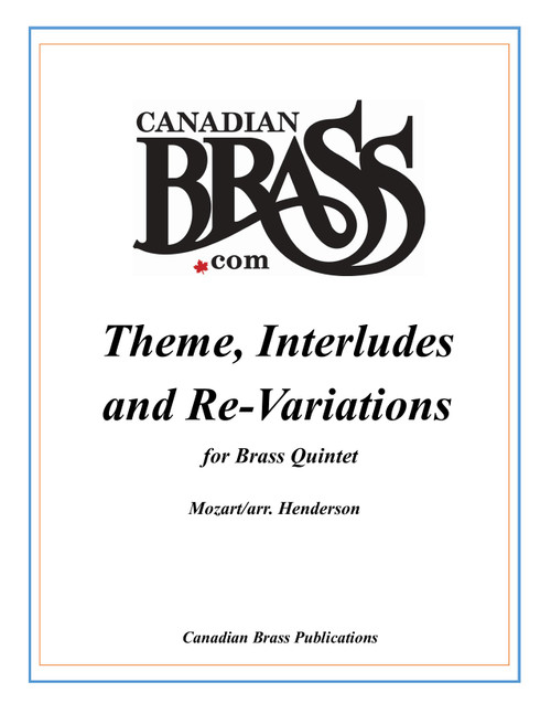 Theme, Interlude and Re-Variations for Brass Quintet PDF Download (Mozart/arr. Henderson)