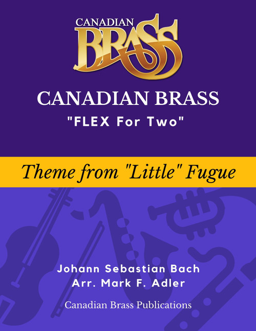 """Flex for Two - Theme from """"Little"""" Fugue in G Minor by J. S. Bach (arr. M. Adler) Educator Pak PDF Download"""