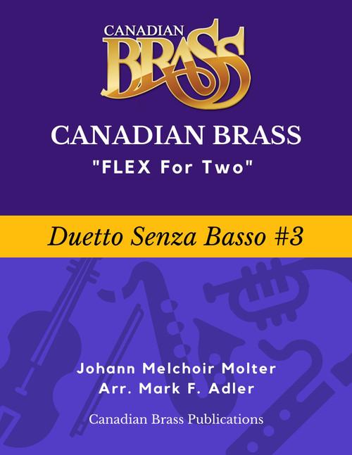 Flex for Two - Duetto Senza Basso #3 by Johann Melchior Molter (arr. M. Adler) Educator Pak PDF Download