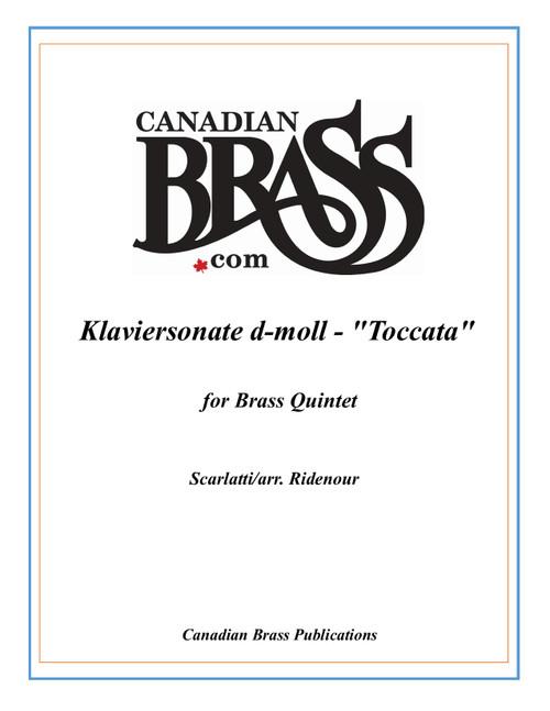"""Klaviersonate d-moll - """"Toccata"""" for Brass Quintet PDF Download (Scarlatti/arr. Ridenour)"""