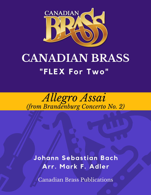 Flex for Two - Allegro Assai from Brandenburg Concerto No. 2 by J. S. Bach (arr. M. Adler) Educators Pak PDF Download