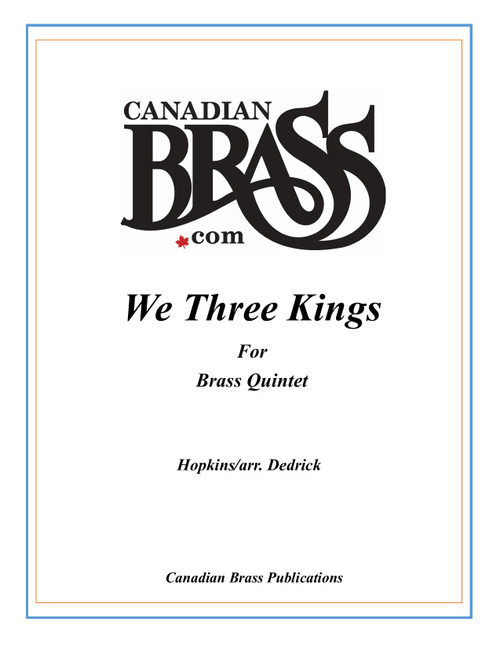 We Three Kings Brass Quintet (Hopkins/arr. Dedrick) PDF Download