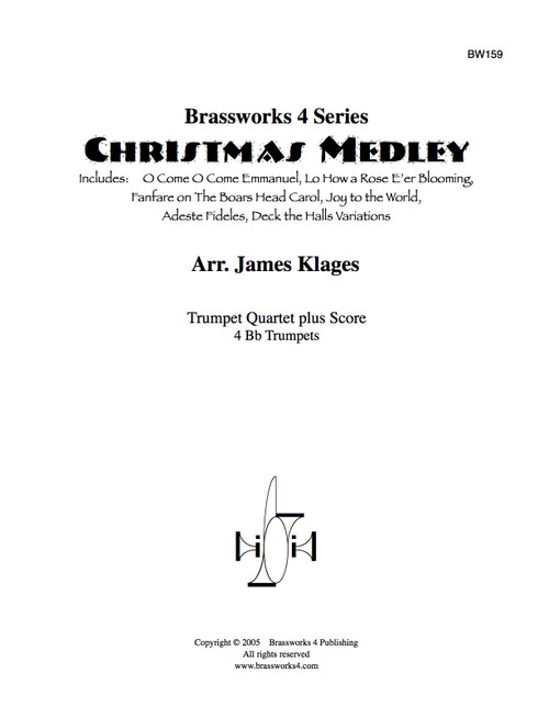 Christmas Medley for Trumpet Quartet (Trad./arr. Klages) PDF Download