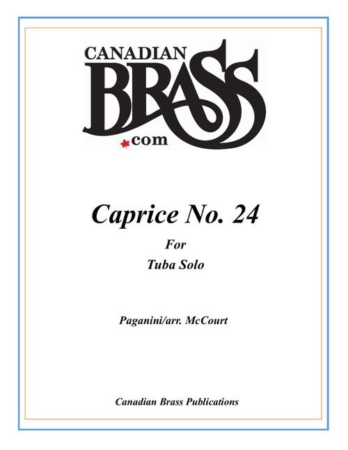 Caprice No. 24 by Paganini for Tuba Solo (arr. Jarrett McCourt) PDF Download