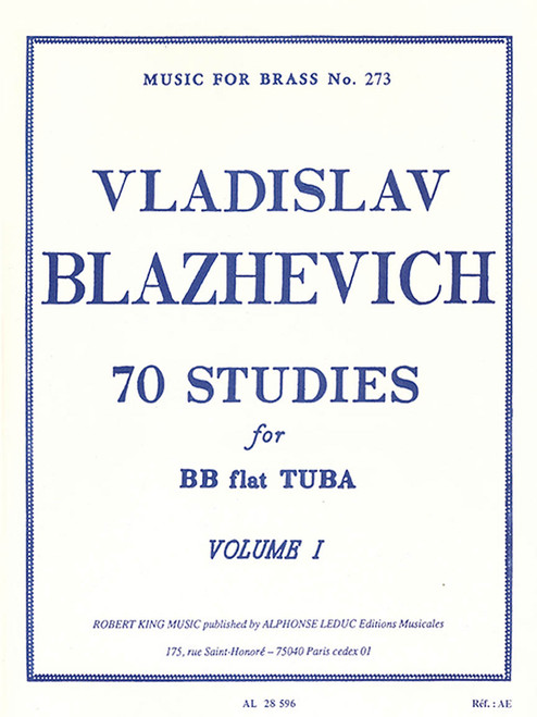 70 Studies for BB flat Tuba - Vol. 1 (Vladislav Blazhevich)