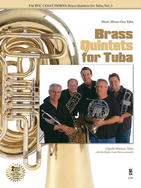 Pacific Coast Horns - Brass Quintets for Tuba, Vol. 3 (Music Minus One)