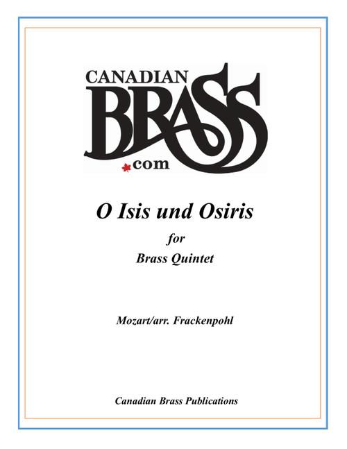 O Isis und Osiris Brass Quintet (Mozart/arr. Frackenpohl) PDF Download