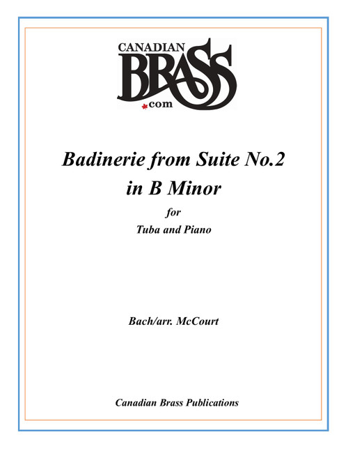 Badinerie from Suite No. 2 in B Minor for Tuba and Piano (Bach/arr. McCourt) PDF Download