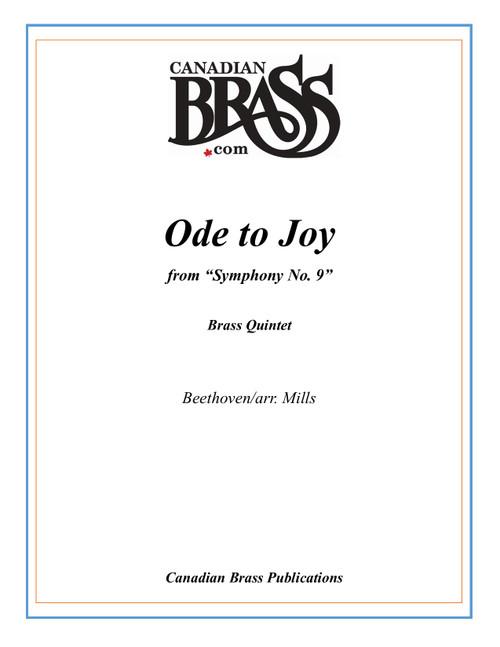 Ode to Joy Brass Quintet (Beethoven/arr. Mills) PDF Download
