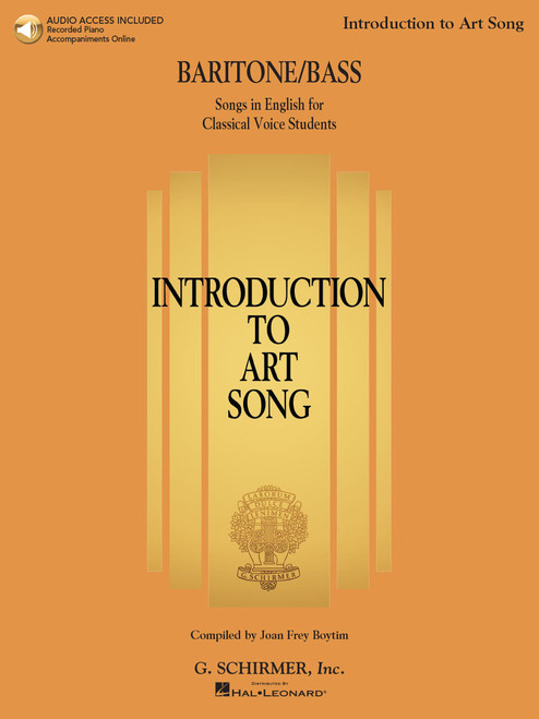 Introduction to Art Song for Baritone/Bass with Online Audio Access