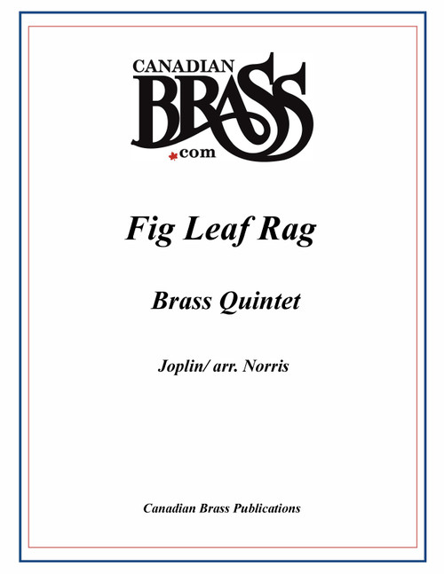 Fig Leaf Rag Brass Quintet (Joplin/arr. Norris) PDF Download