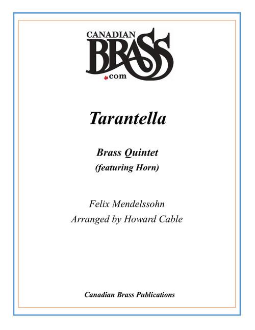 Tarantella Brass Quintet (Mendelssohn/arr. Cable) PDF Download