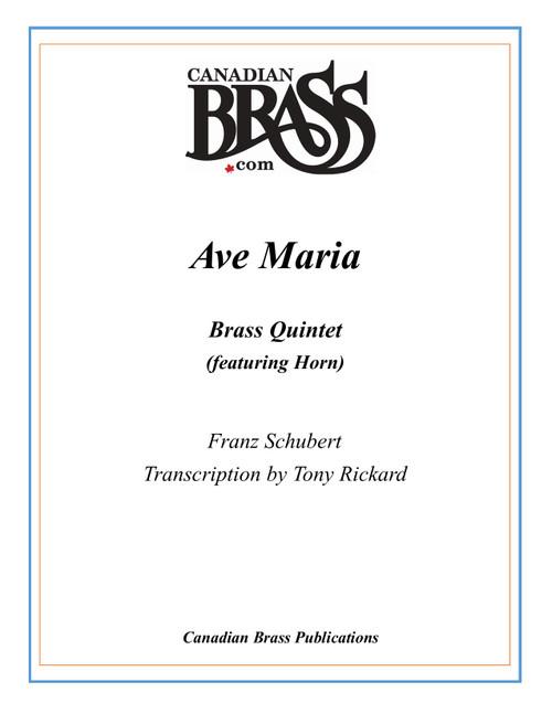 Ave Maria Brass Quintet (Schubert/arr. Rickard) PDF Download