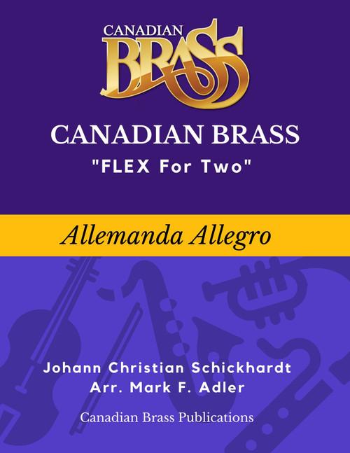 Flex for Two - Allemanda Allegro by Johann Christian Schickhardt (arr. M. Adler) Educators Pak Spiral Bound