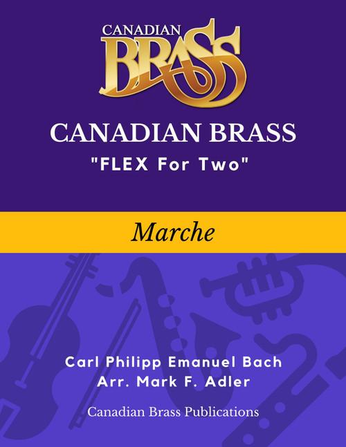 Flex for Two - Marche by Carl Philipp Emanuel Bach (arr. M. Adler) Educator Pak Spiral Bound