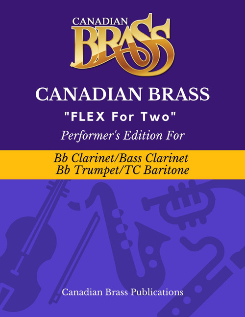 Flex for Two - Performer's Edition for Bb Clarinet, Bass Clarinet, Bb Trumpet and T.C. Baritone Spiral Bound