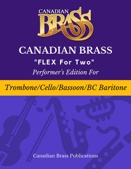 Flex for Two - Performer's Edition for Trombone, Cello, Bassoon and or B.C. Baritone Spiral Bound