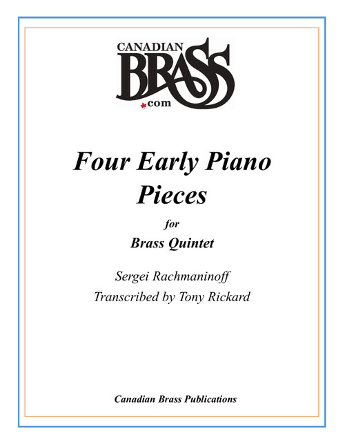 Four Early Piano Pieces for Brass Quintet (Rachmaninoff/arr. Rickard) PDF Download