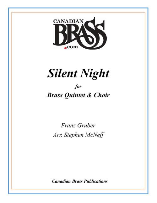 Silent Night Brass Quintet and Choir (Gruber/arr. McNeff) PDF Download