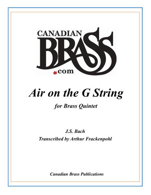 Air On the G String Brass Quintet (Bach/arr. Frackenpohl)