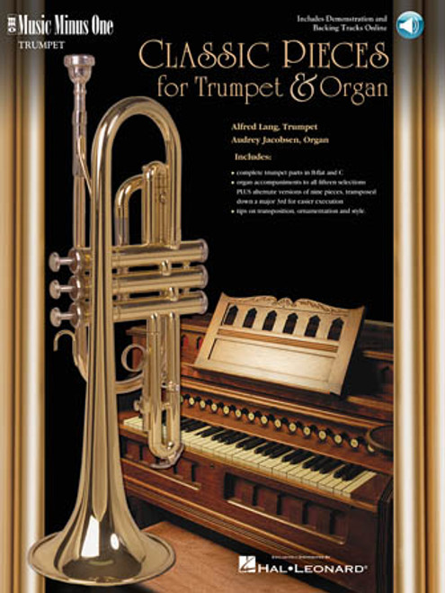 Classical Pieces for Trumpet & Organ Music Minus One Book w/Online Access