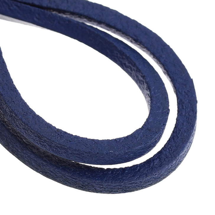 Genuine Leather Jewellery Cord Square 3mm - Blue