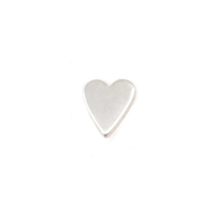 Sterling Silver Solderable Accent  - Mini Skinny Heart 24g