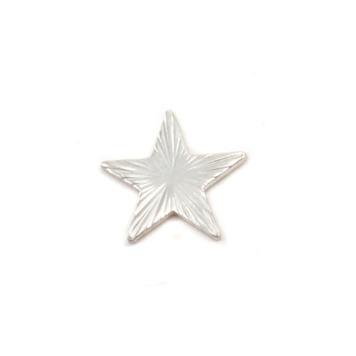 Sterling Silver Solderable Accent  - Silver Art Nouveau Star 24g